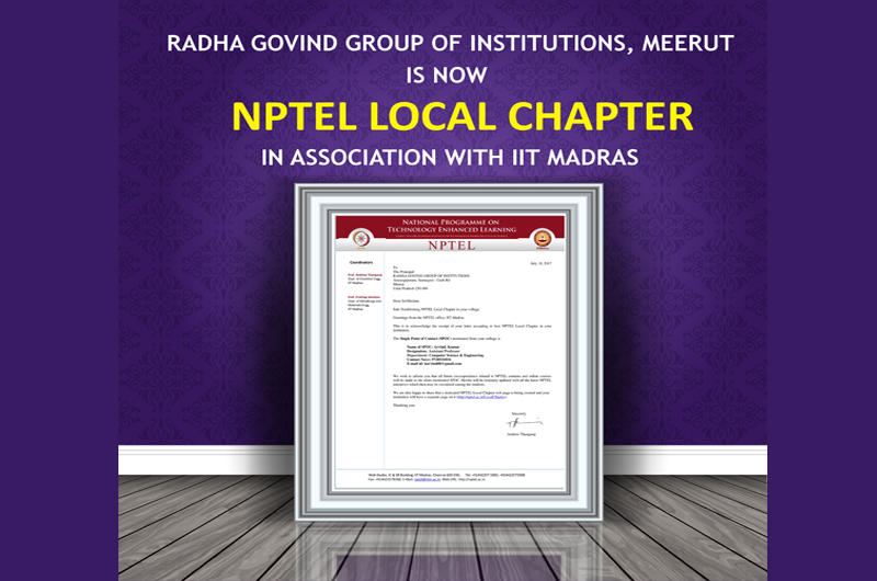 NPTEL LOCAL CHAPTER